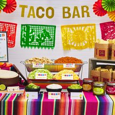 Whether you are a caterer or looking to host a flawless Taco Bar party for Cinco de Mayo, Avery has everything you need. Get the look with Avery tent cards, labels and free Fiesta inspired printable templates on Avery Design & Print Online. Mexican Birthday Parties, Mexican Fiesta Party, Fiesta Theme Party, Mexico Party Theme, Fiesta Gender Reveal Party, Fiesta Games, Mexican Fiesta Decorations, Kids Birthday Themes, Mexican Desserts