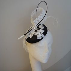 """Another beautiful design by """"By Harriet."""" Classic & not over done.  http://www.byharriet.co.uk/fascinators"""