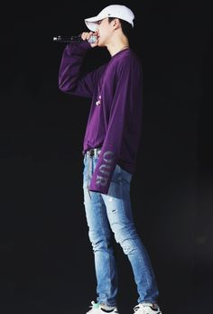 Soft baby Sehun in purple~~