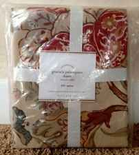 POTTERY BARN GRACIELA PALAMPORE FULL/QUEEN DUVET + 1 STD SHAM NEW RED FLORAL