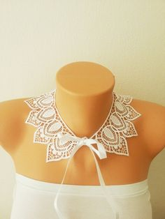 FREE SHIPPING LUX collar necklace- Luxury Handmade Cotton Lace Applique Collar- White- Peter Pan collar- Woman- Woman Applique #scarf #homeslippers  #shoping  #mom #gifts #trends #baby #boy #toy