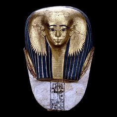 Mummy mask of Satdjehuty    From Thebes, Egypt, Early 18th Dynasty, about 1500 BC   British Museum - Highlight image