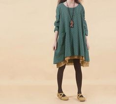 100 cotton casual loose dress large size blouse by FashionOnline8, $53.90