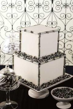 B Ridler Weddings, cake Black And White Wedding Cake, White Wedding Cakes, Beautiful Cakes, Amazing Cakes, 3d Cake Tutorial, Cake Land, Ice Cake, Pretty Cupcakes, Themed Wedding Cakes