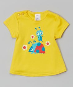 Another great find on #zulily! Yellow Ladybug Swing Tee - Infant #zulilyfinds