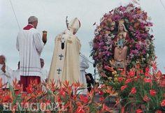 Visita del Papa Juan Pablo II a Venezuela,  al templo de la Virgen de Coromoto en Guanare, el 10 de Febrero de 1996. Guanare, 10-02-1996 ( HUMBERTO MATHEUS / EL NACIONAL)