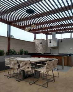 Diy Pergola, Corner Pergola, Deck With Pergola, Patio Roof, Backyard Patio, Pergola Kits, Pergola Ideas, Cheap Pergola, Rooftop Terrace Design