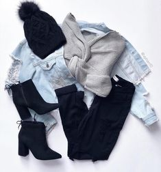 winter outfits for school or 4 By - winteroutfits Winter Fashion Outfits, Fall Winter Outfits, Cute Fashion, Teen Fashion, Autumn Winter Fashion, Cute Casual Outfits, Stylish Outfits, Outfits Otoño, Vetement Fashion