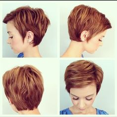 4 months into growing out my pixie!  emma_gustavson