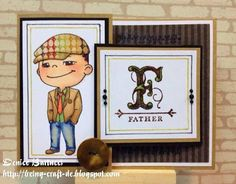 A Father's Day card by DT Denice Bartucci featuring Chase. Hat from Winter Yumi