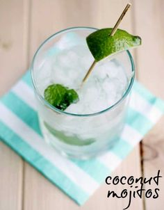 coconut mojito recipe - perfect for summer!  @Gina Gab Solórzano @ Shabby Creek Cottage