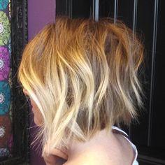 Hey @hairdodanigirl you done good. This bob is bangin' #bob #shorthair #ombre #sombre #modernsalon #layeredbob
