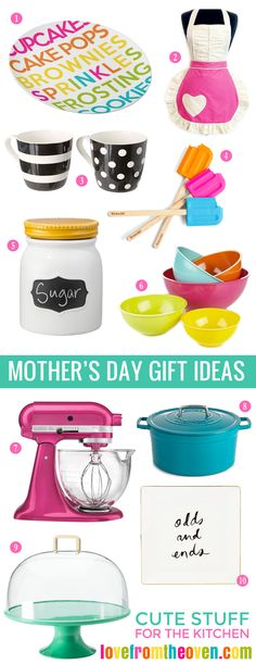 Mother's Day Gift Ideas for moms who love to bake and/or cook.  #mothersday #gifts.... I love all of these soooooooo much! KCR