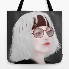 Miss Evie The Witch Tote Bag by yayashi Evie, Witch, Reusable Tote Bags, Illustrations, Etsy Shop, Art Prints, Art Impressions, Illustration, Witches