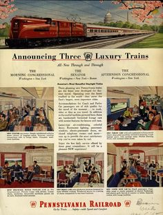 1958 Pennsylvania Railroad ad