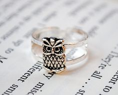 Owl Ring by Kelly Stahley. On Etsy for $15