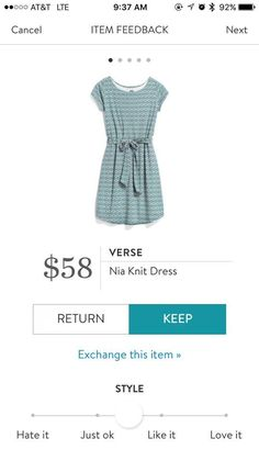 Verse Nia Knit Dress. I love Stitch Fix! A personalized styling service and it's amazing!! Simply fill out a style profile with sizing and preferences. Then your very own stylist selects 5 pieces to send to you to try out at home. Keep what you love and return what you don't. Only a $20 fee which is also applied to anything you keep. Plus, if you keep all 5 pieces you get 25% off! Free shipping both ways. Schedule your first fix using the link below! #stitchfix @stitchfix. Stitchfix Spring…