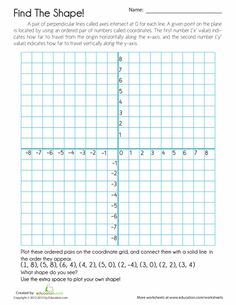 Printables Coordinate Plane Math Worksheets drawings birds and worksheets on pinterest