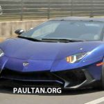 Lamborghini Aventador LP750-4 SuperVeloce Roadster spied prior to launch