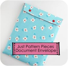 Simple large fabric envelope for storing and carrying documents, magazines, paperwork, etc.
