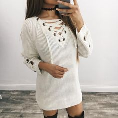 Kallie Lace Knit Sweater (White) – ootdfash