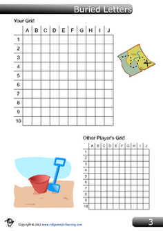 Spelling List Game – Buried Letters