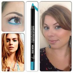 Summer Splash Makeup. Inspired by Cosmo Magazine. Used Makeup Forever#AquaEyes in Turquoise. #makeup #summermakeup #makeupforever #turquoise Portfolio   Lilyluv Cosmetics - San Francisco Bay Area Makeup Artist