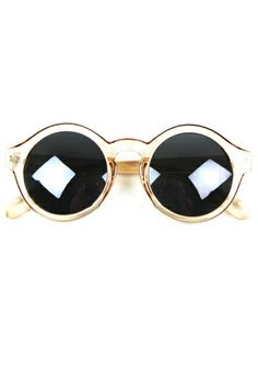 I like these a lot, but I'm pretty sure I can find a similar pair at our local $1 store. Sweet Color Block Round Sunglasses, $19 OASAP.com