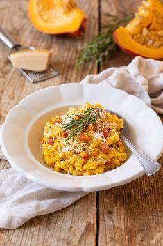 Parmesan Recipes, Vegan Recipes, Cooking Recipes, Pumpkin Risotto, Happy Foods, Pumpkin Recipes, Food Inspiration, Dinner Recipes, Healthy Eating