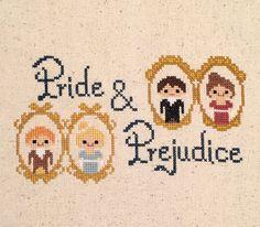 Pride and Prejudice cross stitch pattern