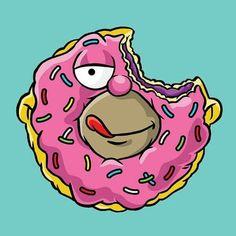 The Simpsons│ Los Simpson - - - - - - Simpsons Drawings, Simpsons Art, Homer Simpson, Cartoon Art, Cartoon Characters, Los Simsons, Roy Lichtenstein Pop Art, Simpson Wallpaper Iphone, American Dad