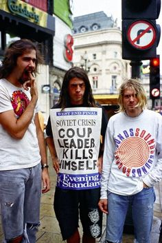 Nirvana // 1991 ----- I find this very sad. Considering Kurt knew what he was doing in 94.