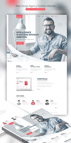 Graphic design web-design-agency-portfolio-website-free-psd-template Your Guide to Bathroom Planning Web Design Mobile, Site Web Design, Website Design Layout, Web Design Tips, Web Design Trends, Page Design, Personal Website Design, Web Design Websites, Design Ideas