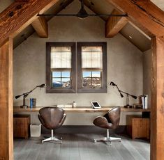 A contemporary home office is one with a modern, upbeat look. It has a pleasant environment in which to work and it suits many businesses. Checkout 25 best contemporary home office design. Rustic Cafe, Rustic Desk, Rustic Office, Rustic Kitchen, Rustic Furniture, Rustic Style, Rustic Logo, Rustic Restaurant, Bedroom Rustic