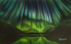 Original Nature Painting by Paolo Hendrik Original Paintings, Original Art, Photorealism, Nature Paintings, Aurora Borealis, Artwork Online, Buy Art, Paper Art, Saatchi Art