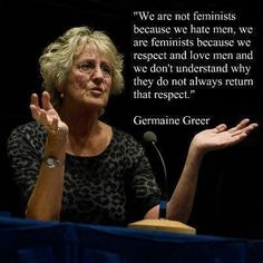 I feel that this quote is one way to interpet how fenimism is viewed through the eyes of not only women but also men to a certain extent. Feminism is not to have women hold onto the power over men, but rather to have everyone treated equally. Whereas, men should be able to put in just as much respect onto women as women love and respect men!