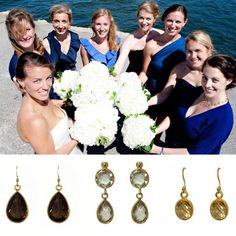 A June #wedding of one of our own! Look at the lovely gems that Emily chose for herself and her bridesmaids. #ktcollection