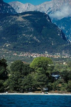 Litochoro village with the Mt Olympus