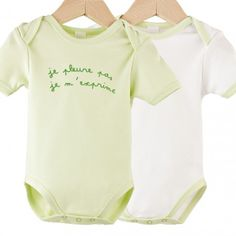 Lote de 2 bodies Me Expreso #body #bebe #verano #frase #verde #blanco #kinousses