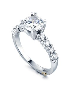 Engagement Ring of the Week: Reflection - Let this Mark Schneider ring be a reflection of your love. Shimmering and everlasting.     http://www.markschneiderdesign.com/home/bridaldetail/17/reflection.html