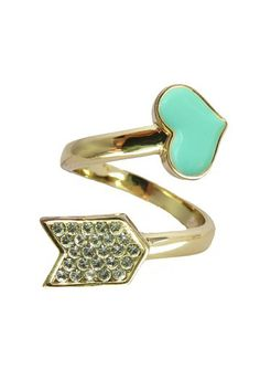 Mint Arrow Pave Wraparound Ring by Jami Rodriguez on @HauteLook