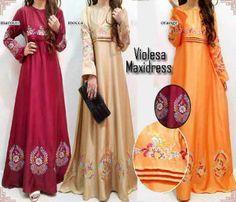 Maxi Dress Violesa Embroidery Hyd38