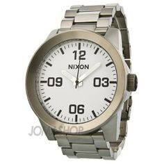 Nixon Corporal Stainless Steel White Dial Unisex Watch - A346-100 NIXON. $161.68. A brand-new, unused, and unworn item (including handmade items) in the original packaging (such as the original box or bag) and/or with the original tags attached.. Manufactured by Nixon.