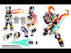 Megaman ZX3 Concept: Biometal Model ZXA by ultimatemaverickx.deviantart.com on @deviantART