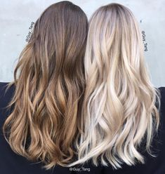 "Guy Tang on Instagram: ""Blonde or brunette? Both looks were achieved using Guy Tang+@pravana pure light balayage Lightener with HIGH activator 45 mins to process both in open air on brunette and blonde was incubated in cling film, to achieve the brunette tone lift to a level 8 and use natural chromasilk express tone for 5mins damp hair and blonde can be achieve using Pearl and clear for 5mins. #pravanabalayage"""