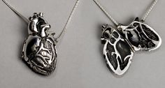 anatomically correct heart necklace