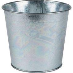 Value Metal Garden Planter in Silver - 14cm - £1.50