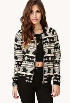 Tribal Pattern Bomber Jacket | FOREVER21 - FALL FALL FALL!!..oh yea did i say?...... FALL!!
