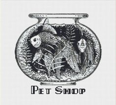 Pet Shop Sign Cross Stitch Pattern, Vintage Typography Instant Download Counted Cross Stitch Chart, PDF Digital Download