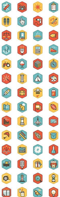 Tide Pool icons - created via http://pinthemall.net - no longer on the original site #flatdesign